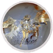 Transparent Angel Round Beach Towel