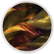 Trapped In Amber Round Beach Towel