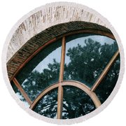 Round Beach Towel featuring the photograph Trapped Tree by Ana Mireles