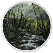 Trask River Round Beach Towel