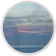 Traveling Between Here And There 2 Round Beach Towel