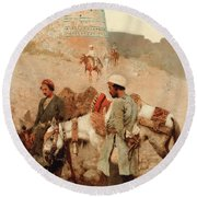 Traveling In Persia Round Beach Towel by Edwin Lord Weeks