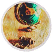 Travellers Globe Round Beach Towel