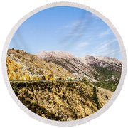 Travelling Rugged Alps Round Beach Towel