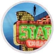 Traverse City State Theatre Round Beach Towel