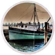Trawler Bristol Ri Round Beach Towel