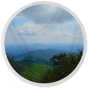Tray Mountain Summit - North Round Beach Towel