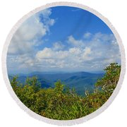 Tray Mountain Summit - South Round Beach Towel