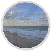 Round Beach Towel featuring the photograph Treasure Coast by Carol  Bradley