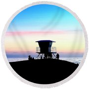 Treasure Coast Florida Sunrise Seascape Paradise 447 Round Beach Towel