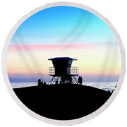 Treasure Coast Florida Sunrise Seascape Paradise 447c Round Beach Towel