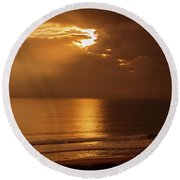 Treasure  Coast Sunrise Round Beach Towel