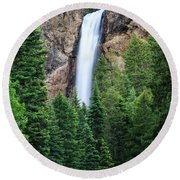 Round Beach Towel featuring the photograph Treasure Falls by David Chandler