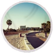 Round Beach Towel featuring the photograph Treasure Island Beach Trail by Joel Witmeyer