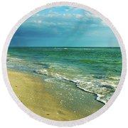 Treasure Island L Round Beach Towel