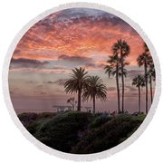 Treasure Island Sunset Round Beach Towel