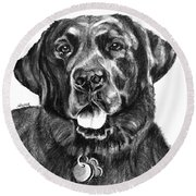 Treasured Lab Round Beach Towel