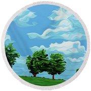 Tree Amigos Round Beach Towel