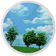 Tree Amigos Round Beach Towel