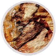 Tree Bark Series  - Patterns #2 Round Beach Towel