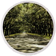 Tree Covered Approach Round Beach Towel