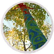 Tree Crochet Round Beach Towel by  Newwwman