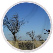 Tree Echo Round Beach Towel