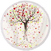 Tree Explosion Round Beach Towel by Stefanie Forck