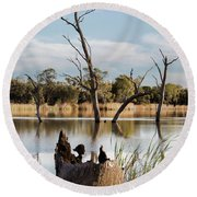Round Beach Towel featuring the photograph Tree Image by Douglas Barnard