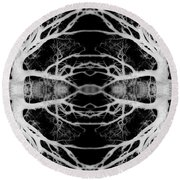 Tree Kaleidescope  Round Beach Towel