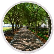 Tree Lined Path Round Beach Towel