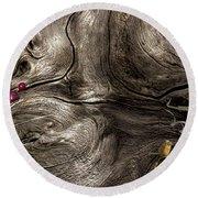 Tree Memories # 9 Round Beach Towel by Ed Hall
