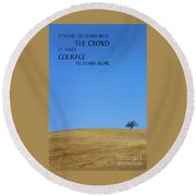 Tree Of Courage Round Beach Towel