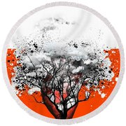 Tree Of Feelings Round Beach Towel