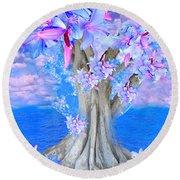 Tree Of Hope Round Beach Towel