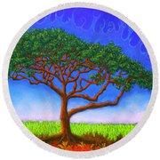 Tree Of Life 01 Round Beach Towel