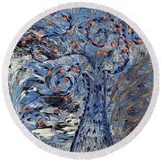 Tree Of Life  Round Beach Towel by Cathy Beharriell