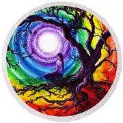 Tree Of Life Meditation Round Beach Towel