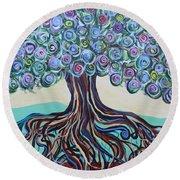 Tree Of Life-spring Round Beach Towel