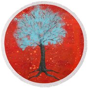 Nuclear Winter Round Beach Towel by Stefanie Forck