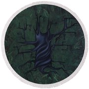 Tree Of Secrets Round Beach Towel