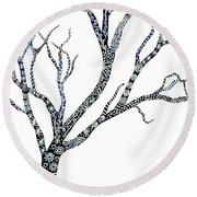 Tree Of Strength Round Beach Towel