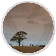 Round Beach Towel featuring the photograph Tree by RKAB Works