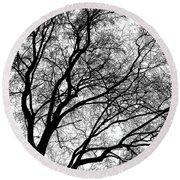 Tree Silhouette Series 1 Round Beach Towel