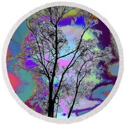 Tree - Story Of Life Round Beach Towel