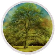 Tree Three Round Beach Towel