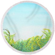 Tree Tops Round Beach Towel by Mary Ellen Frazee