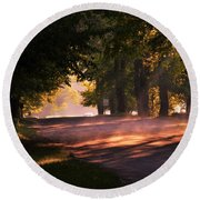 Tree Tunnel Round Beach Towel