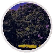 Tree Tunnels Of Knowledge Round Beach Towel