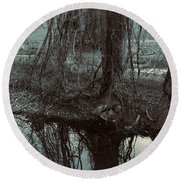 Tree Vines Water Round Beach Towel